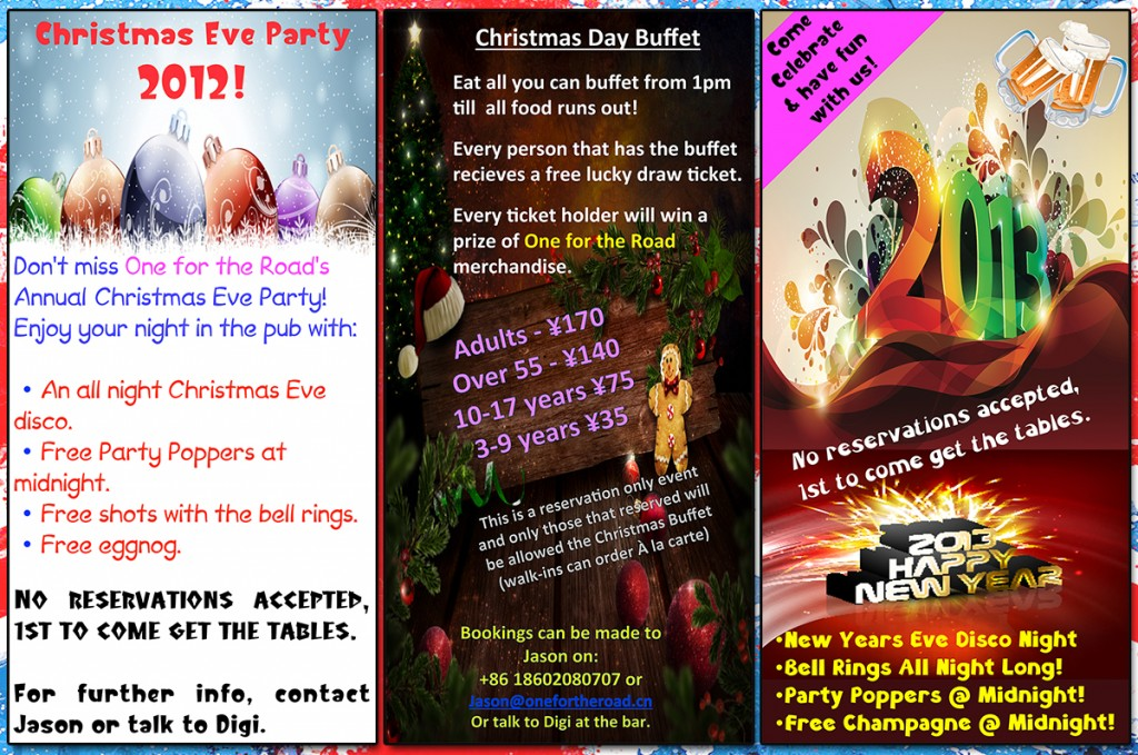 December 2012 at One for the Road will be fun, festive, and event-filled!