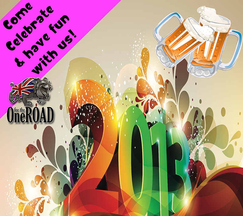 Don't forget to get here early for the One for the Road New Years PARTY!