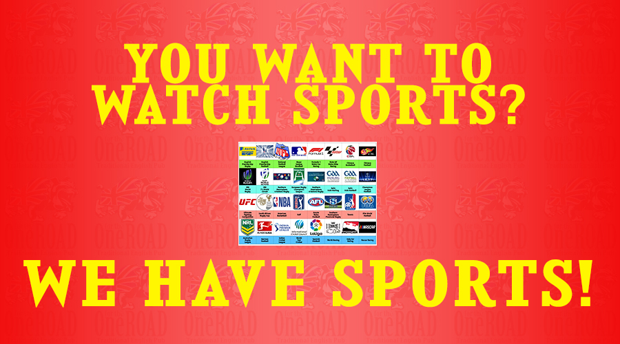 We show all sports Live & replayed!