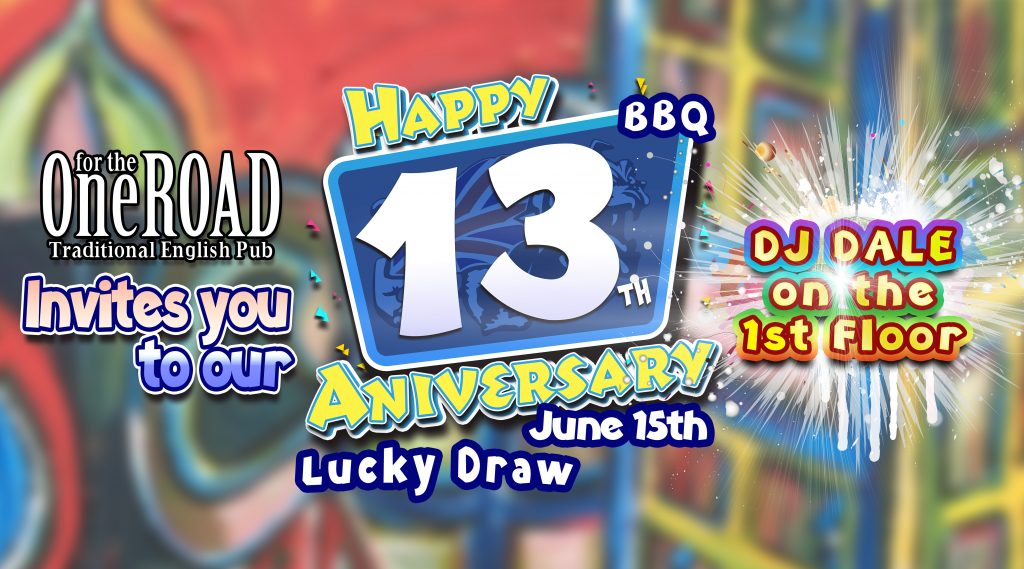 One for the Road's 13th Anniversary Party info